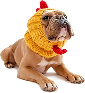 Zoo Snoods Rooster Chicken Dog Costume - Neck and Ear Warmer Headband for Pets