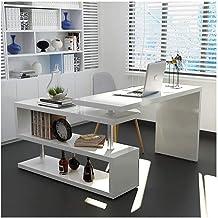 LJBH Computer desk, desktop corner conjoined desk cabinet, corner desk, bookcase cabinet combination, rotating desk Comput...