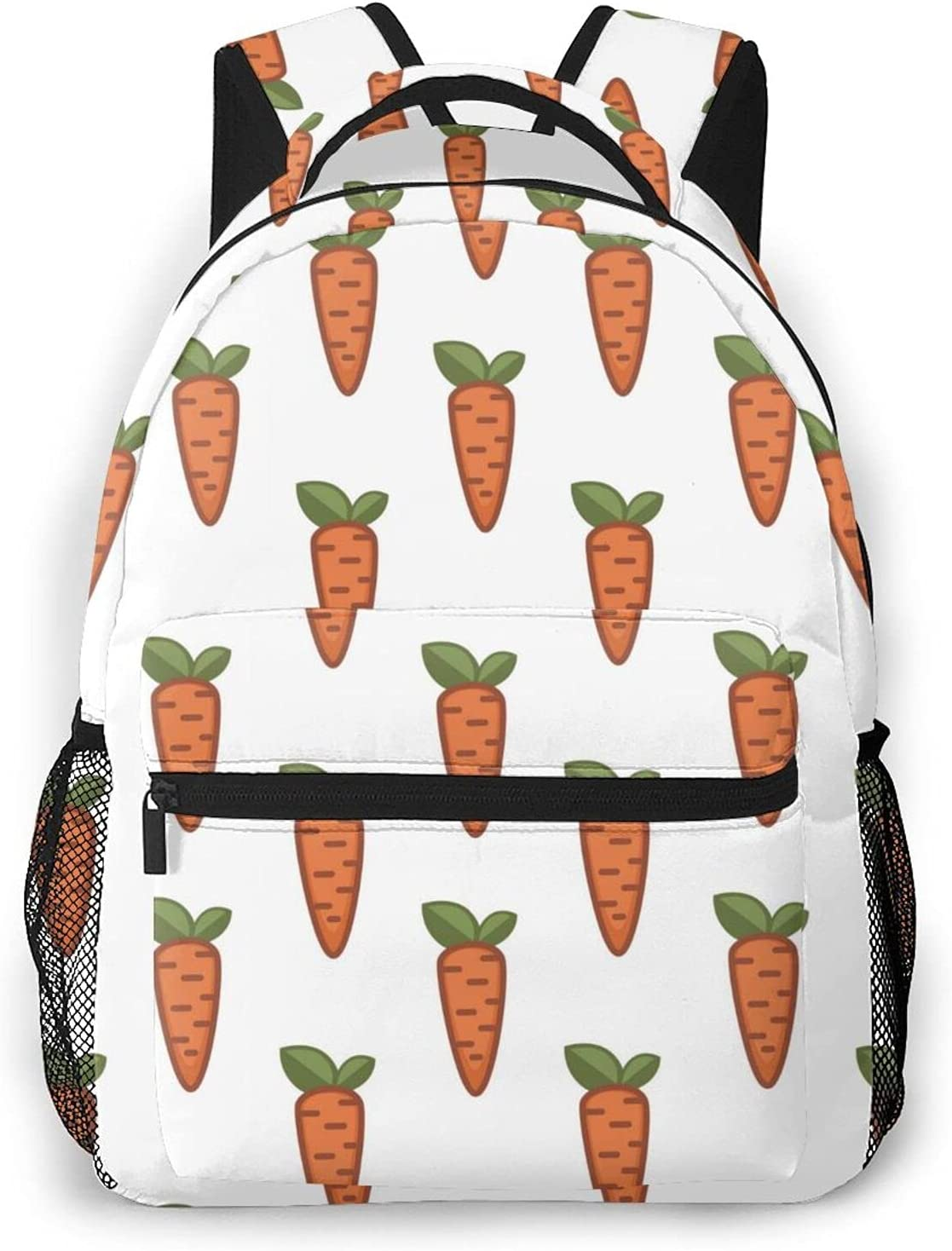 Max 77% OFF Farm Food Carrot Travel Daypack Student Laptop Rucksack Backpack Rapid rise