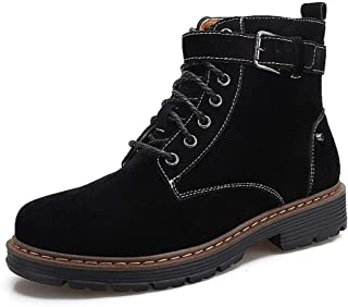 2019 New Arrival Men Boots Mens Work Boot High Top for Men Lace Up Shoes Anti Slip PU Leather Vegan Combat Military Tactical Motorcycle Round Toe Flat Easy Care Breathable
