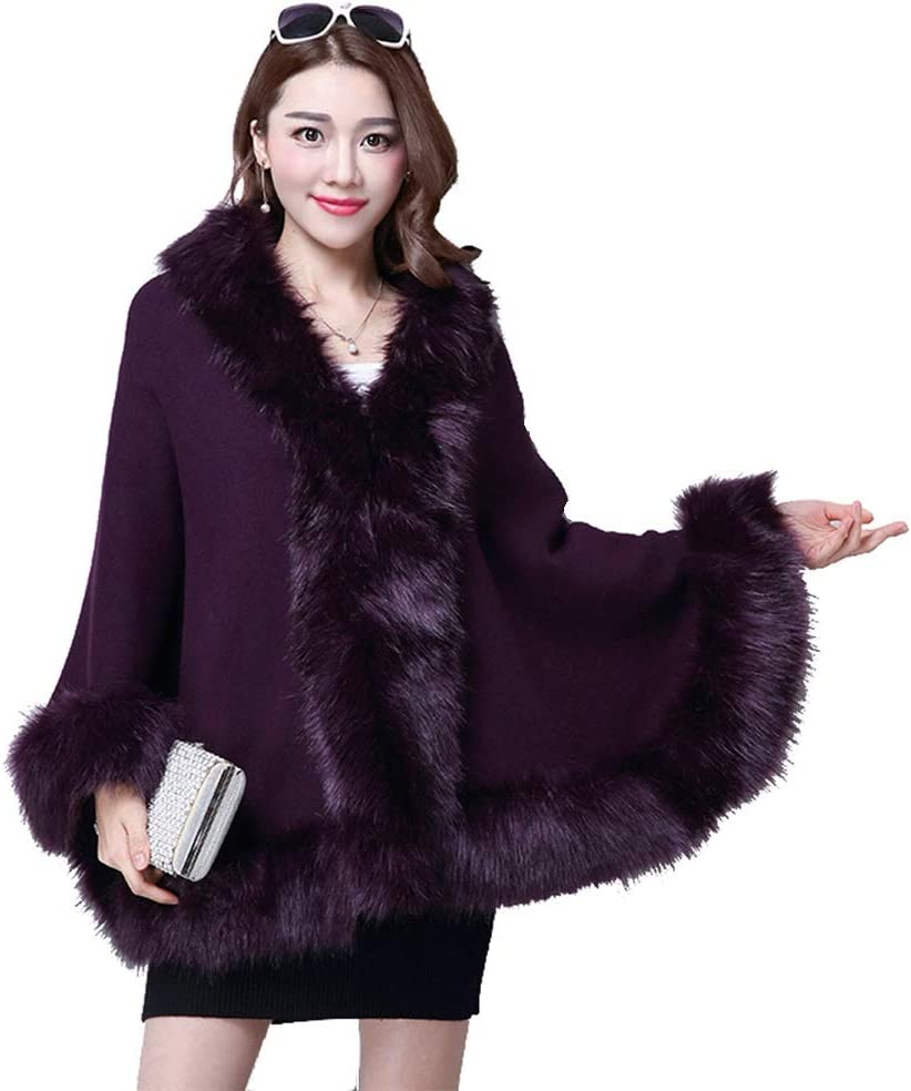 Teerwere Fall Warm Scarf Womens Winter Warm Thick Front Cardigans Shawl Winter Cozy Warm for Winter (Color : Purple)