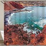 LISNIANY Cortinas Ducha,Bahía de El Golfo. Lanzarote. Islas Canarias. España,Cortina de Ducha Impermeable