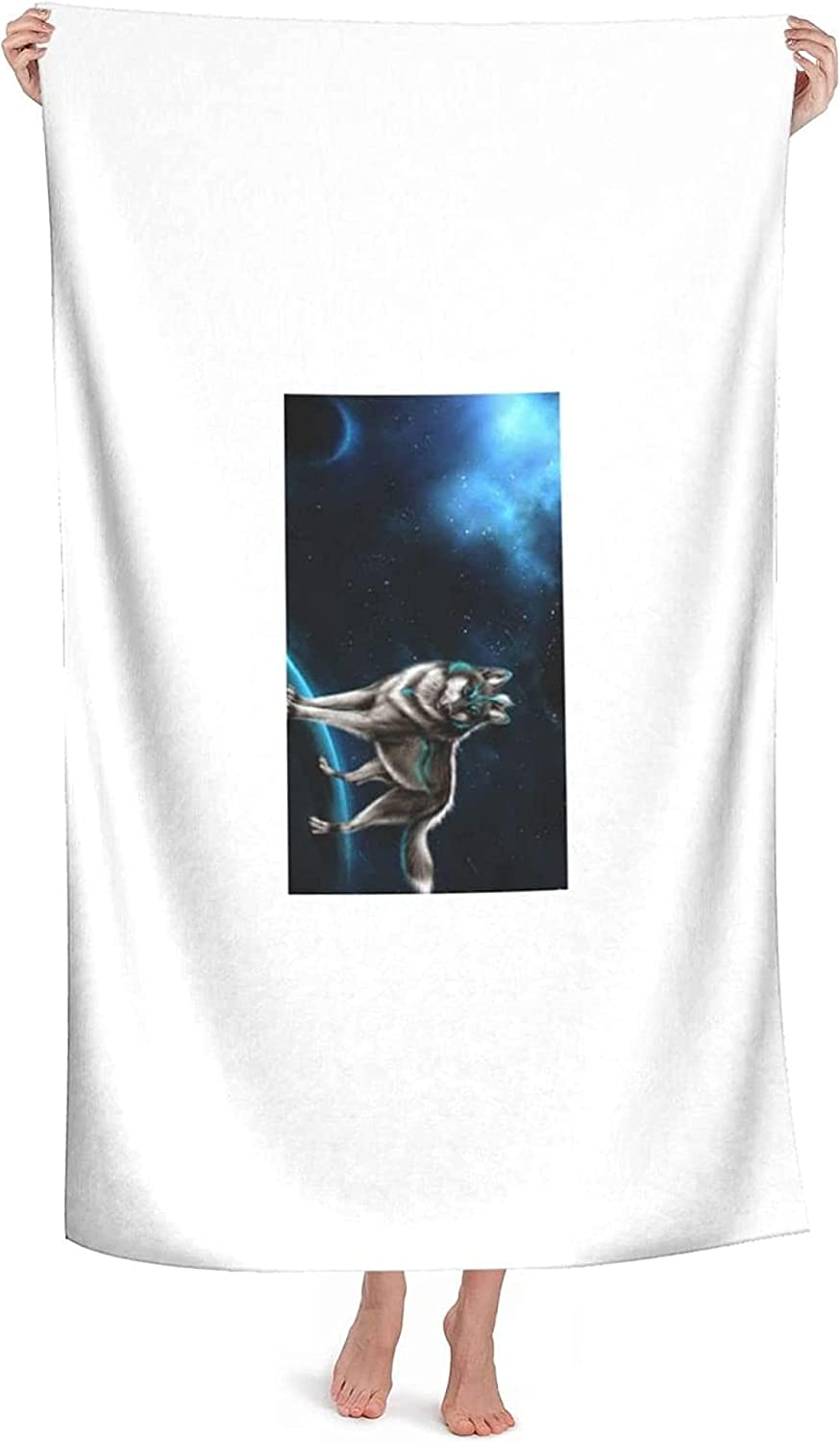 Limited price sale Epushow Beach Towel Wolf Large Microfiber Max 77% OFF Extra Q