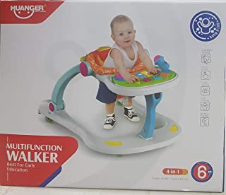 4-In-1 Multi-Purpose Walker Step-By-Step Push Stroller for 6-18 Months Baby, Cartoon Lion Music Toy Walker