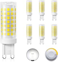 DiCUNO G9 Dimmable LED Bulbs 4W (40W Halogen Equivalent), Daylight White 5000K, 430LM, AC/DC 220V, Energy Saving Ceramic B...