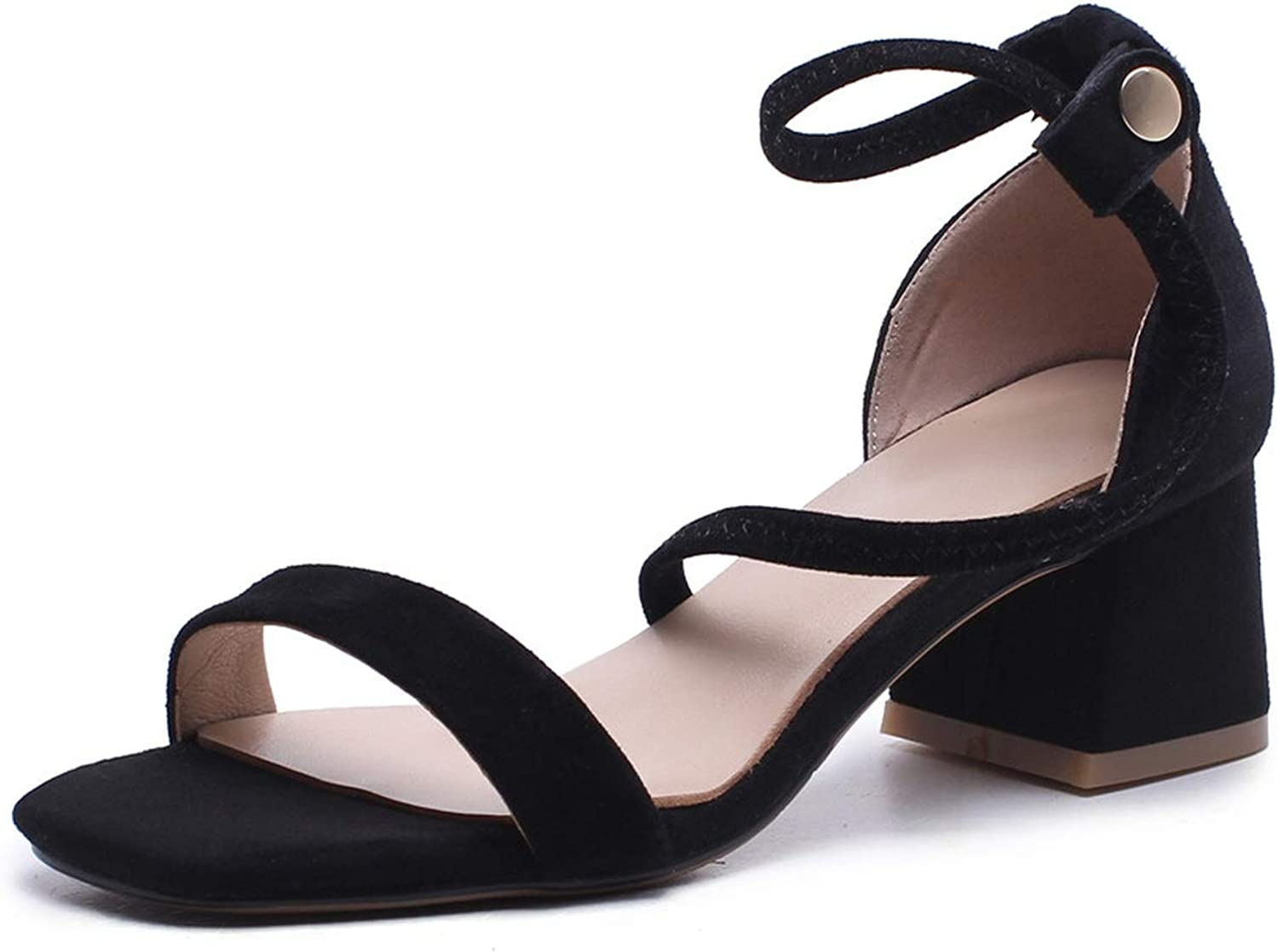 Girl21 Genuine Leather shoes Woman Flat Buckle Strap Sandals Beach shoes