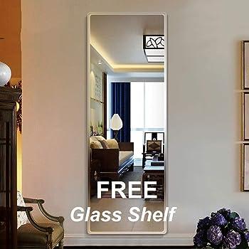 Creative Arts n Frames Glass Wall Mirror (Silver_Mirror: 18 X 48 Inch, Shelf: 18 X 6 Inch)
