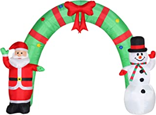 Poptrend Inflatable Christmas Decorations 8 Foot Inflatable Christmas Arch – Christmas & X'mas Yard Inflatables with Bright LED Christmas Lights – Wacky, Funny, Colorful,Festive Holiday Spirit
