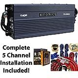 Hifonics TPS-A600.5 600W 5-Channel Compact Power Sports Amplifier + 5 Channel...