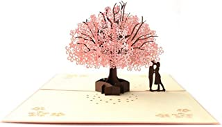 Elegant Invitations Cards Kits, 3D Cherry Blossom Shape Lace Wedding Party Invitations Cards with Printable Paper and Envelopes for Engagement Wedding Marriage Birthday Bridal Bride Shower Party
