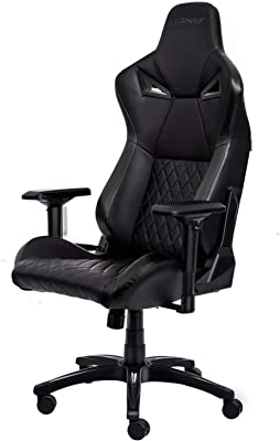 KARNOX Legend TR Racing Style Gaming Office Chair with Adjustable Height and Armrests, Ergonomic 155° Reclining, Locking High Back with Integrated Headrest (Black)
