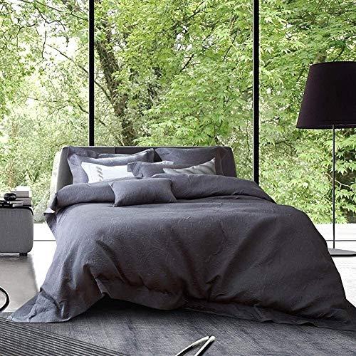 NBVCX Inicio Accesorios QIDI Ropa de Cama de Color Puro Ropa de Cama de Cuatro Piezas Ropa de Cama de algodón Puro cálido, Suave y cómodo
