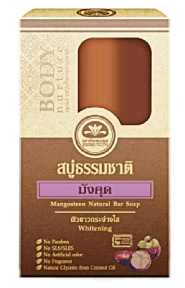 既婚休眠希少性Mangosteen Mangosutin マンゴスチン石鹸 Natural Bar Soap Reduce Black spots Whitening Skin Soap 80 grams.