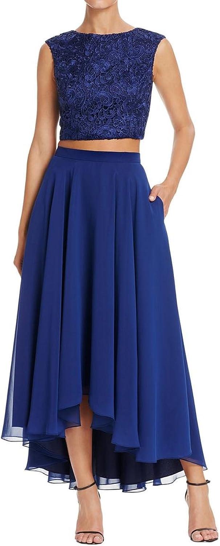 Aidan Mattox Womens 2PC Mixed Media Crop Top Dress