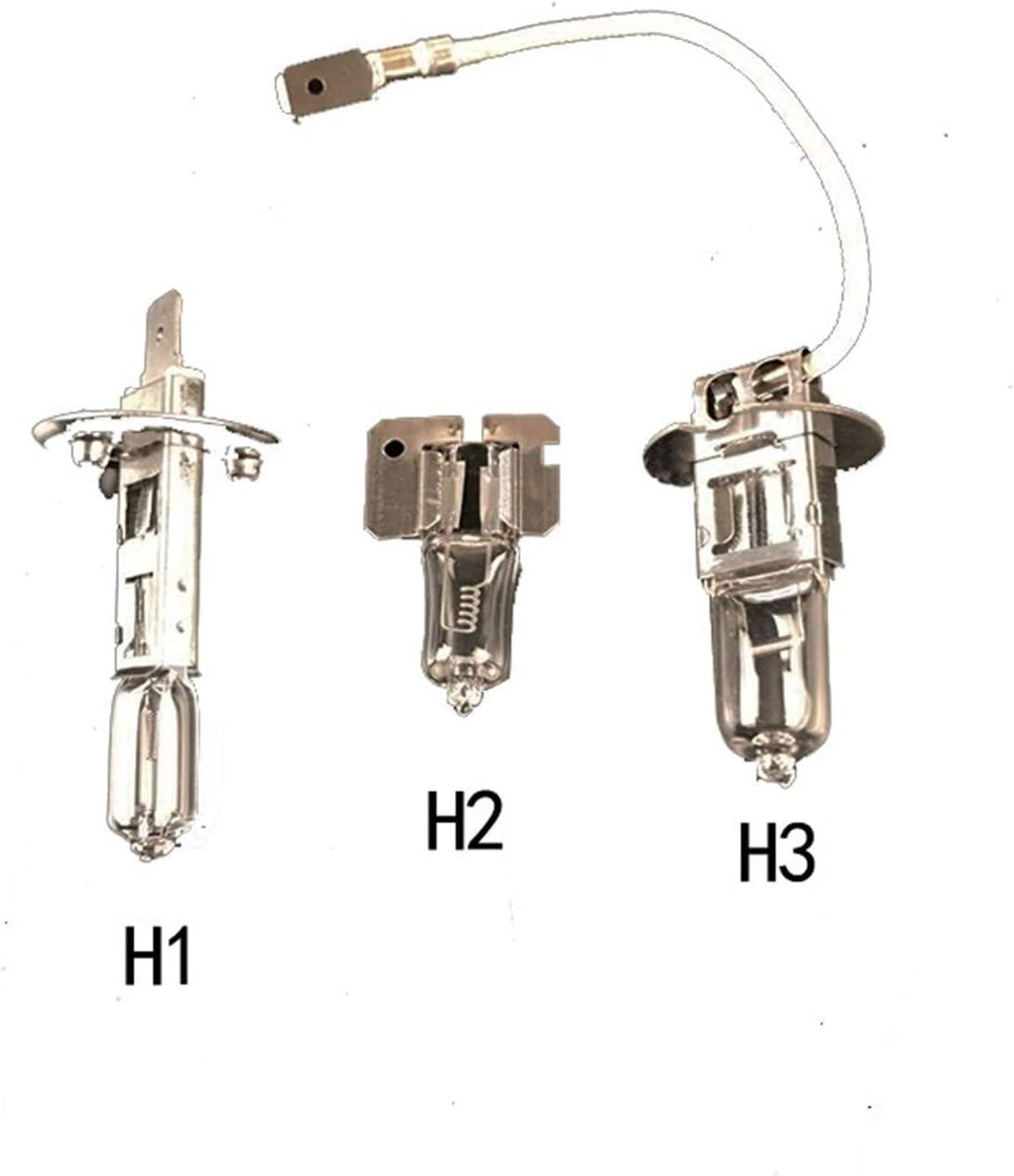 Fangaichen Adecuado para el Coche Bombilla halógena Halógena H1 H2 H2 H3 H3 H3 H3 H3 H3 H3 H3 12V 4000K Lámpara de conducción de Luces de Niebla Clara (Color : H2 24V 70W)