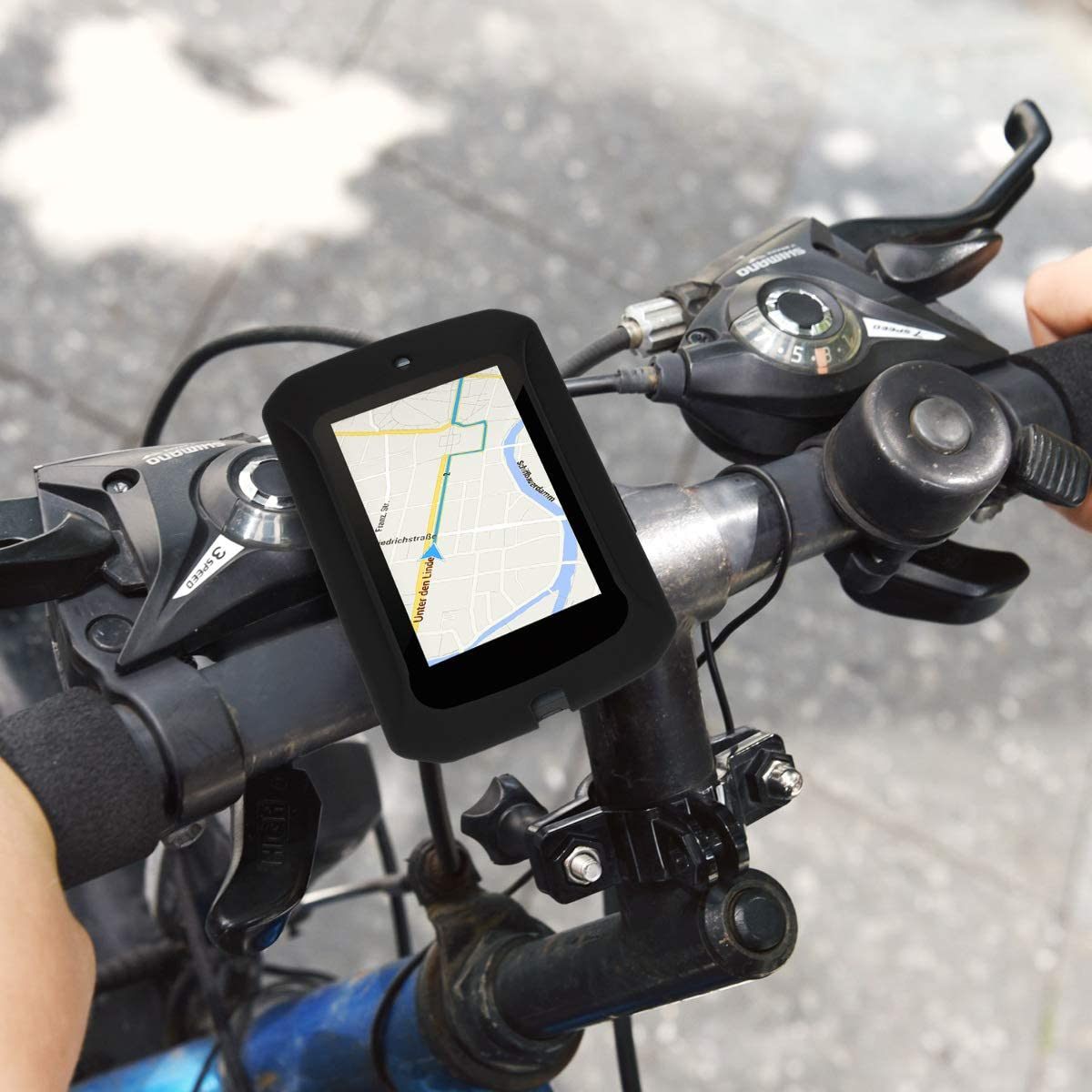 Cover en Negro kwmobile Funda Compatible con Bryton Rider 860 Carcasa de Silicona para GPS