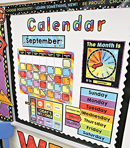 Celebrate Learning Calendar Bulletin Board Set—Colorful Calendar, Monthly Headers, Days of the Week, Seasons, Birthdays, Special Occasions, Weather Chart (86 pc) Photo #5