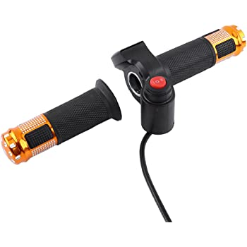 Bike Throttle Grip LCD Screen Twist Throttle Accelerator Handle Grips with Cable and Key Knock for Electric Bicycle Skateboard