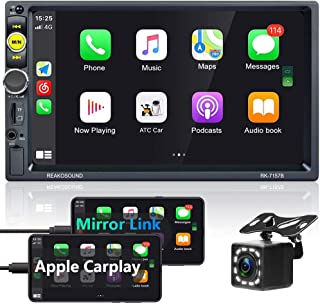 $89 » Double Din Apple Carplay Stereo 7 Inch Touch Screen Car Radio in-Dash Car Stereo with Bluetooth and Backup Camera, FM Radi...