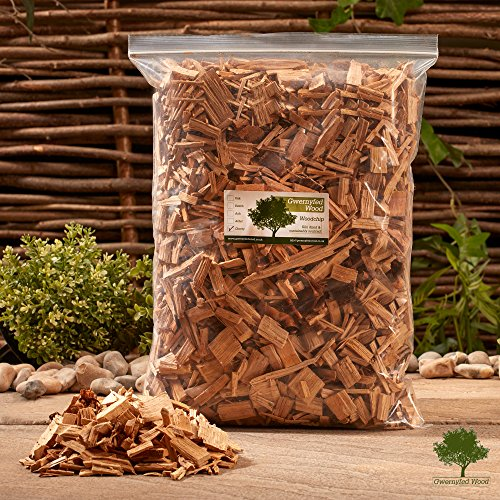 Apple Smoking Wood Chips 4.5 Litre (1.3kg) Jumbo Bag – (8 Great Flavours to Choose From) Smoking Food in a Smoker/BBQ - Kiln Dried - Fast (Apple)