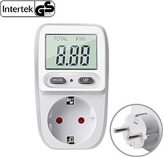 Gifort enchufe medidor de consumo de energía, amplificador de voltaje de energía vatio electricidad uso monitor analizador...
