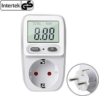 Gifort enchufe medidor de consumo electrico, amplificador de voltaje de energía vatio electricidad uso monitor analizador de energía calculadora