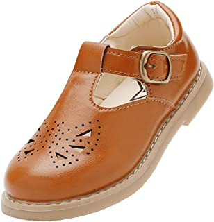 brown t bar school shoes