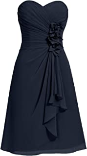 Strapless Sweetheart Short Prom Homecoming Bridesmaid Dresses