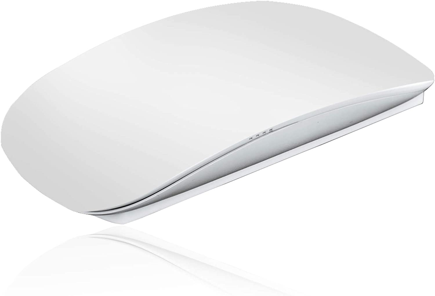 ACZH Touch Magic Wireless Mouse Travel Ultra-Thin Portable Mini Mice Compatible with PC,MAC,Laptops (White)