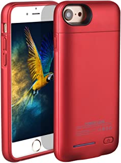 BIGFOX for iPhone 7 Plus Battery Case,for iPhone 8 Plus/7 Plus Charger Case 4200mAh Magnetic Battery Cases Slim Rechargeable External Battery Pack for iPhone 8 Plus/7 Plus/6S Plus/6 Plus (Red)