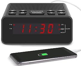 Clock Radio, Digital FM Bedside Alarm Clocks Radio with USB Charger Port for Bedrooms or Livingroom