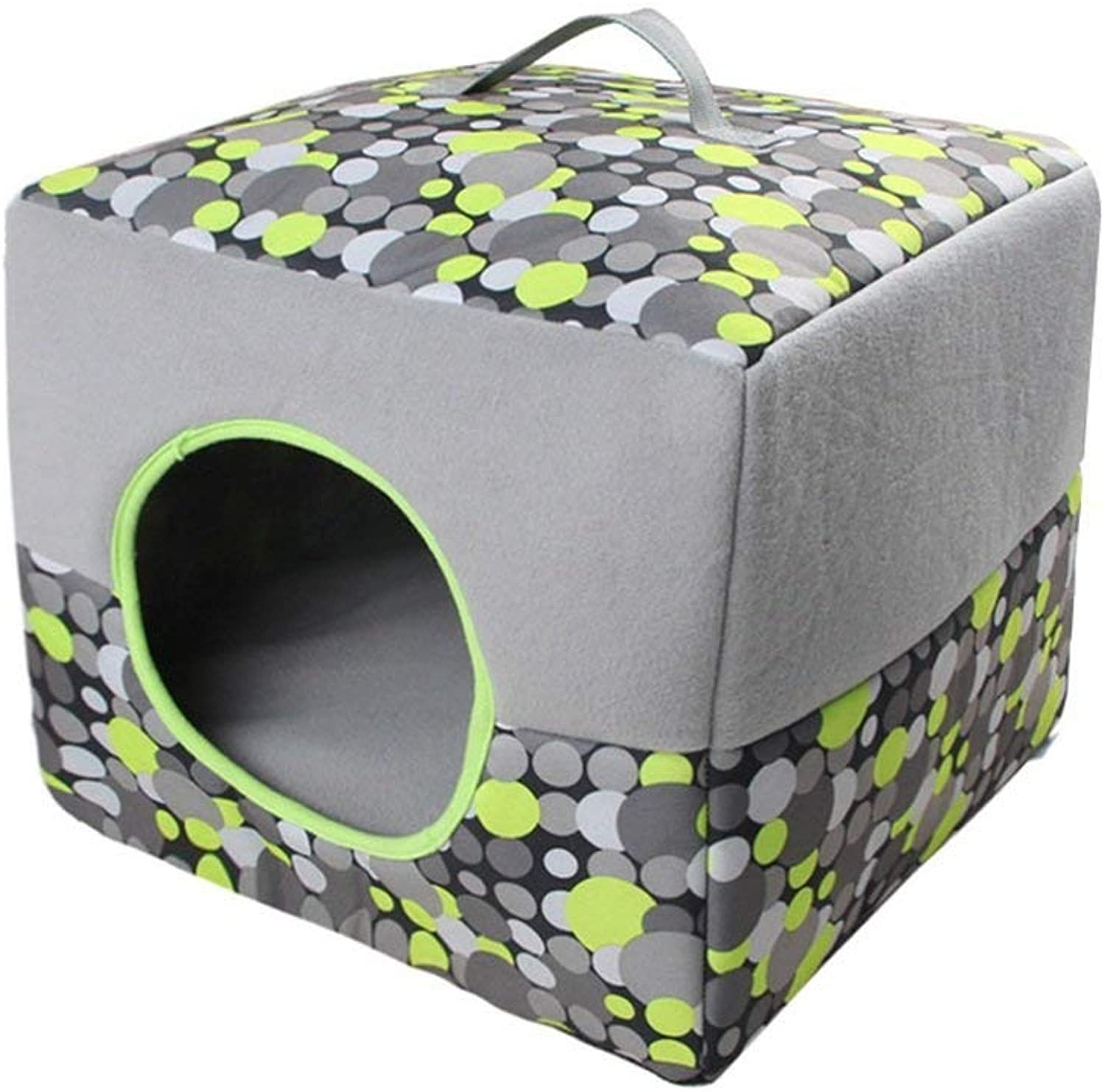 Gperw Soft pet bed Four Seasons Cat And Dog Kennel Foldable Retractable Breathable Pet Seat. soft Non Slip Cushion Pad