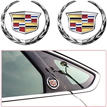cadillac logo full decal sticker decals