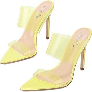 2e2df5d103b Amazon.com: Yellow Women's Heeled Sandals
