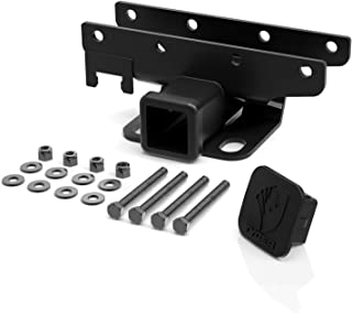 Tyger Auto TG-HC2J001B Hitch & Cover Kit Custom Fit 2007-2018 Jeep Wrangler JK 2 Door & 4 Door Unlimited Factory Style 2 inch Rear Receiver Hitch Tow Towing Trailer Hitch