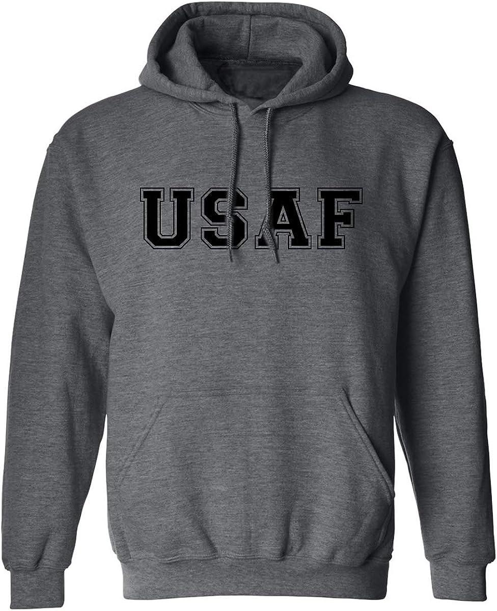 USAF Air Force Hooded Sweatshirt in Dark Heather