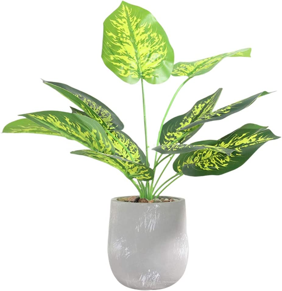 Large-scale sale ECLENYES 1pc Simulation Cement Pot Plant Bo Austin Mall Artificial Evergreen