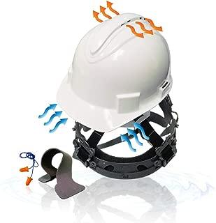 KwikSafety (Charlotte, NC) TURTLE SHELL (10 Vents FREE Extra Sweatband Earplugs) Standard Cap Style (One Size FITS MOST) ANSI Hard Hat Construction Safety Helmet OSHA Lightweight Type 1 Class C White