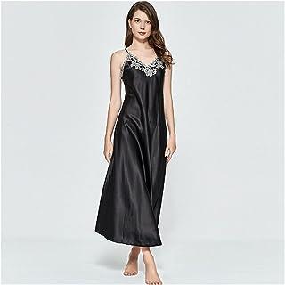 ملابس داخلية نسائية مثيرة للنساء عميق الخامس بدون أكمام من الحرير ملابس نوم للنساء ملابس داخلية (اللون: أحمر، المقاس: كبير)