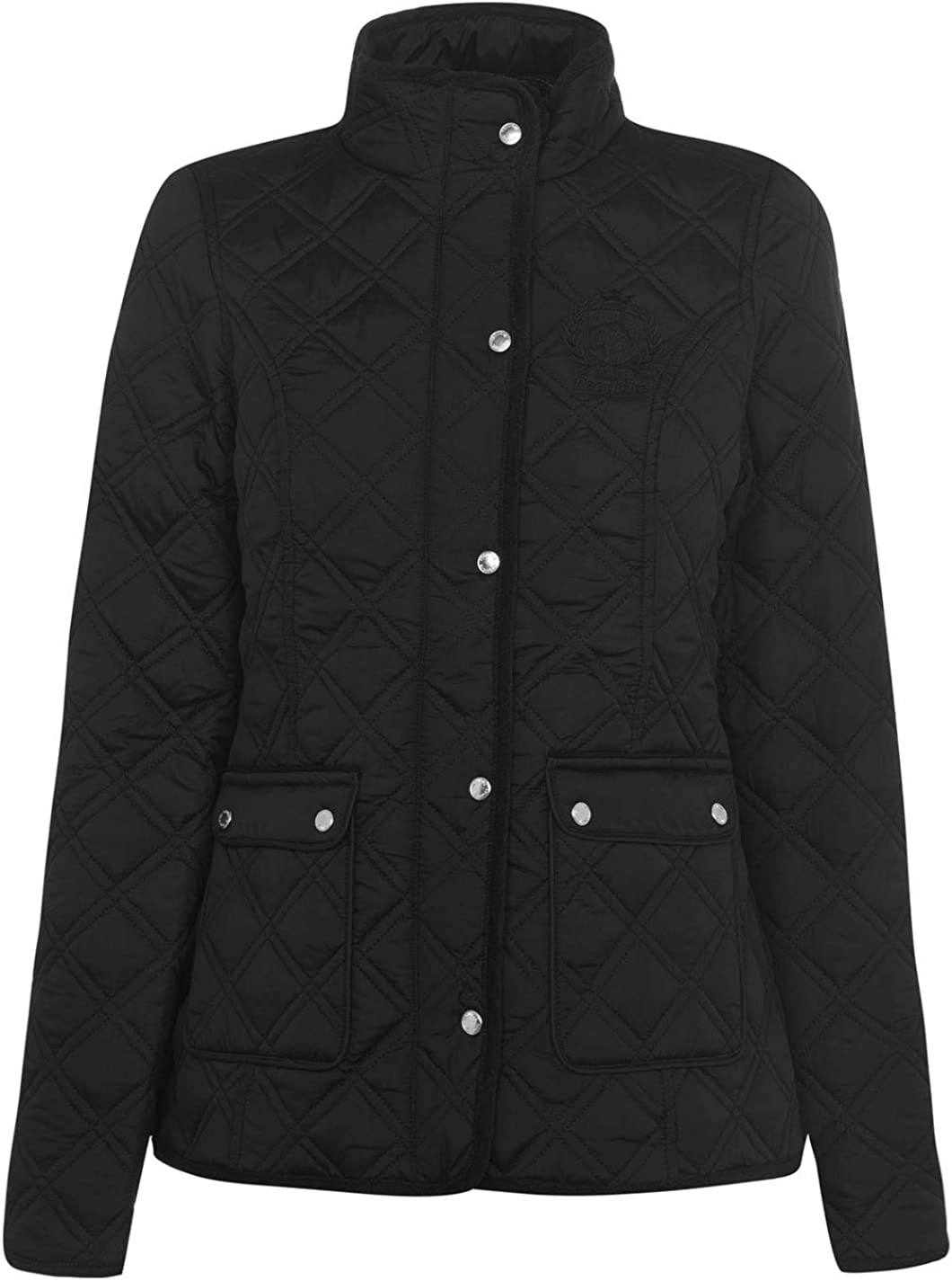 Requisite Womens Quilted Zipped and Buttons Front Pockets Jacket Ladies