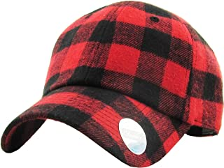 Casual Lumberjack Plaid Suede Corduroy PU Melange Cap Dad Hat 6 Panel Baseball Classic Adjustable Soft