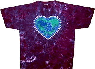 Planet Mother Earth Day on Purple Tie Dye T Shirt Men Women Small to 6X