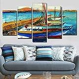 5 Cuadros En Lienzo Modernos Dormitorios Murales Pared Lona XXL Impreso Lienzo 5 Panel...