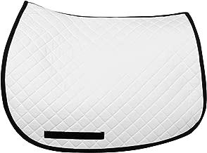 TuffRider Basic All Purpose Saddle Pad W/Trim - White/Pink Standard