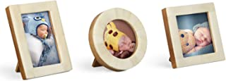Handicrafts Home Baby Picture Frame for Newborn Girls and Boys - Shower Birthday Gifts Vintage Nursery Photo Frames Set of 3 Pieces (White)