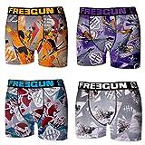Freegun 4 Calzoncillos Boxer Multicolor para niño, Pack 4pcs Pk1883, 6-8 para Niños