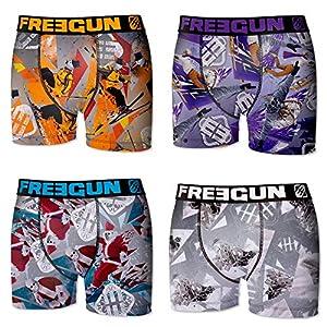 FREEGUN Pack 4 Calzoncillos Boxer Multicolor para niño para Niños