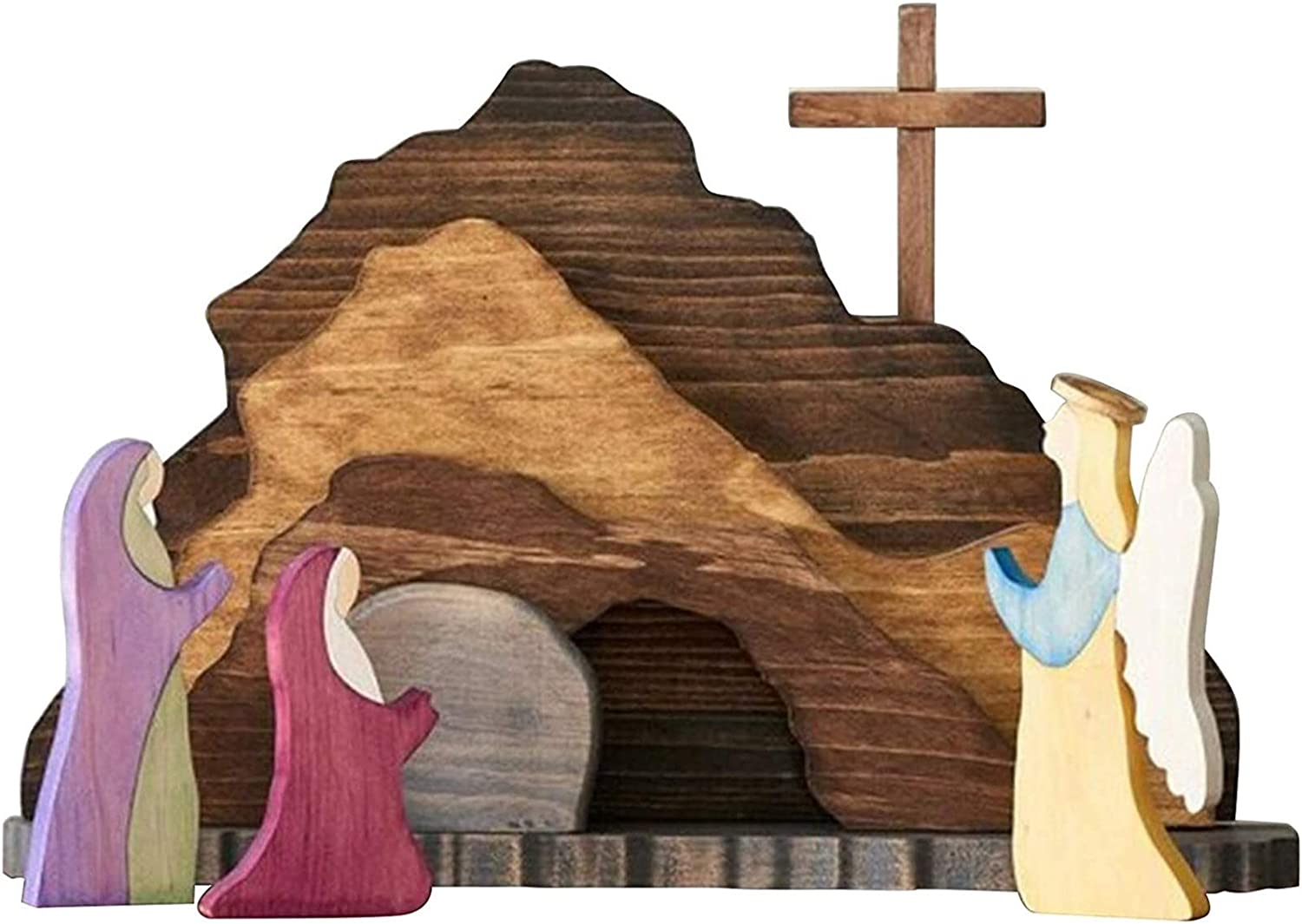 LVTIAN Easter Resurrection Scene Set - 2021new shipping free Figures San Diego Mall Sce Wooden