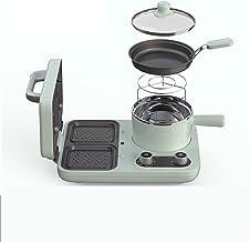 220 V Multi Electric Waffle Baker Baker Sandwichtafel zonder steel, machine met pan en braadpan (kleur: groen, plug type: UK)