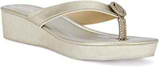 Ceriz Women's Mae Gold Wedge Sandals